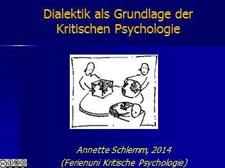 Dialektik in der Kritischen Psychologie 1