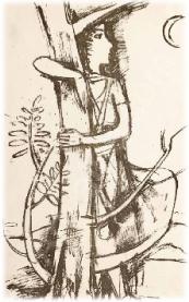 Mädchen mit Baum